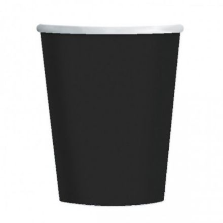 8 Black Paper Party Cups